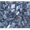 Tubes Square Beads 7X3.4mm Square Hole Blue Luster